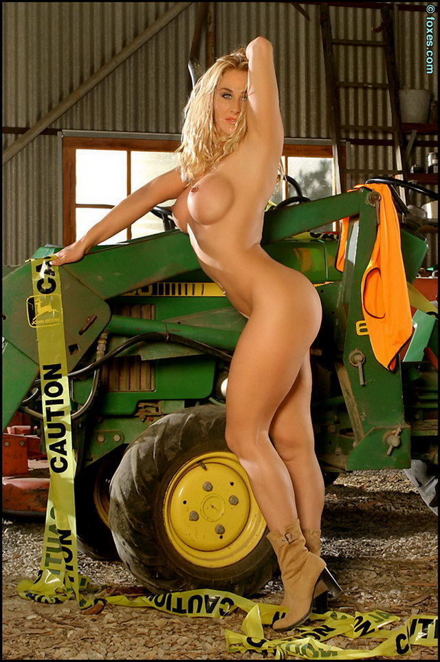 Sexy naked tractor babes consider